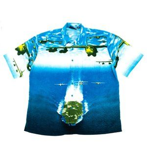 Southpole Button Shirt Men's 2XL Blue Jet Planes